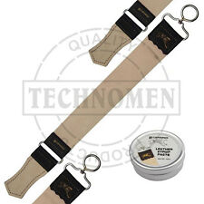 REAL LEATHER SHARPENING HONING STROP FOR STRAIGHT CUT THROAT RAZOR RAZORS PASTE