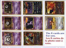 POKEMON JAPANESE PROMO CARDS DRACAUFEU (CHARIZARD HOLO) lot de 8 Cartes (CARDS)