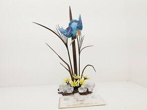 Albany Worcester Fine China Kingfisher Sculpture Porcelain Bronze & Rock Crystal