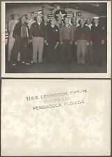 Vintage Photo Navy Ship USS Lexington Fighter Airplane Pensacola Florida 685166