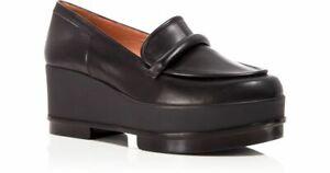 Robert Clergerie $595 Yokolej Black Platform Wedge Loafer Shoes Sz 39 8.5