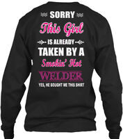 Sensational Welder - Sorry This Girl Is Already Gildan Long Sleeve Tee T-Shirt