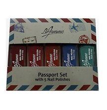 La Femme Mini Nail Polish Gift Set - Passport Set With 5 Nail Polishes - Perfect