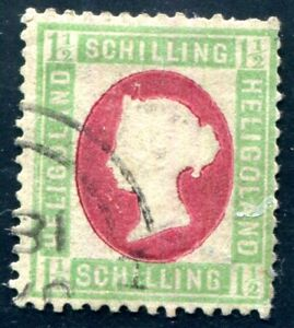 HELGOLAND 1873 10 gestempelt mehrfach signiert Lemberger Köhler etc 420€(C5368