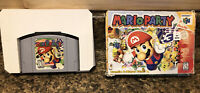 Mario Party (Nintendo 64, 1999)-CART & BOX-CLEAN-TESTED-Authentic-Past Rental