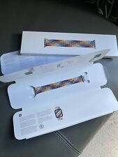Genuine Apple Pride Edition Braided Solo Loop Watch Strap - Size 7 - 40mm ❤️