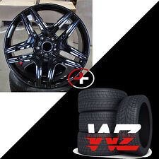 "22"" Mercedes AMG Style Gloss Black Wheels w Tires fits ML300 ML350 ML63 5x112"
