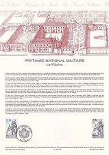 Document Philatélique Timbre 1er Jour : 20/06/ 1987 Prytanée Militaire La Flèche