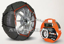 Car Tyre TUV Approved 9mm Snow Chains 165/70 R13 + Hi-Viz Vest,Gloves & Mat-A3