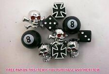 Set 5 Paia BMX / BIKE VALVOLA CAPS; Teschio, da bombardare, dadi, n. 8, Crossbones vendita 75%