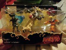 NARUTO Gaara vs Sasuke & Naruto Forest Battle Mattel Figure Set NEW Sealed RARE