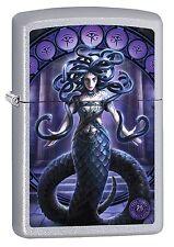 Zippo Lighter: Anne Stokes Snake Lady - Satin Chrome 78384