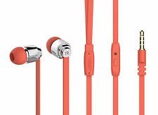 Ear Stereo Headphone Headset For IPhone 6S,6S Plus,5S,5C,5G, iPad ORANGE COLOUR