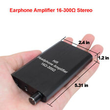 Portable Earphone Amplifier Stereo 16-300Ω 2-Level Boost for iPod Computer MP4