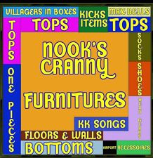 Catalog Island All Furnitures + Clothings for Aminal Crossing + friends(2 hours)