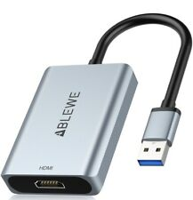 USB to HDMI Adapter ABLEWE 2021 Upgraded USB 3.0/2.0 to HDMI Video Converter