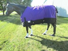 Horse Turnout Sheet / Waterproof / Rip-stop / Purple and Black 75""
