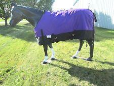 "Horse Turnout Sheet / Waterproof / Rip-stop / Purple and Black 78"""
