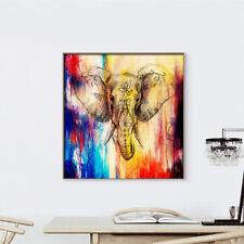Peinture Huile Eléphant Tableau Toile Art Abstraite Salon Maison Mural Déco Mode