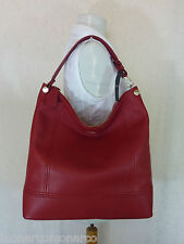 NWT Furla Cabernet Red Leather Bonnie Hobo/Tote Bag $398 - Made In Italy