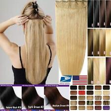 """BIG DISCOUNT ONE PIECE CLIP IN HUMAN HAIR EXTENSIONS REMY REAL 16""""18""""20""""22"""" vv"""