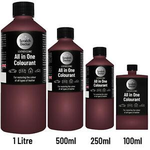 ALL IN ONE BORDEAUX Leather Colourant. Repair & Recolour. Dye Stain Paint Colour