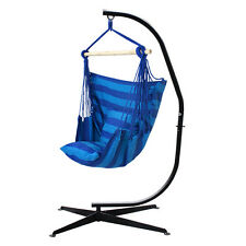 C Frame Stand with Outdoor Solid Steel Hammock Air Porch Swing Hanging Chair