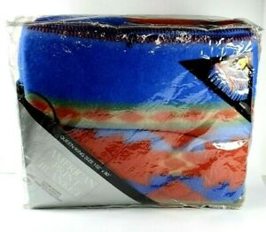 "Vintage American Print Blanket Aztec Queen/King Throw Blanket (102"" x 90"")"