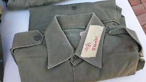 army shirt  green corporal           see photos