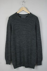 NILS SUNDSTROM BL 162-234W Men X LARGE Purl Knitted Grey Melange Sweater 17638_S