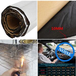 2x1m Car Heat Sound Proof Mat Floor Trunk Noise Insulation Carpet Deadener 10mm