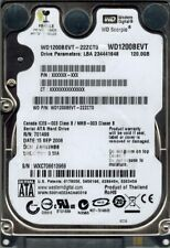 Western Digital WD1200BEVT-22ZCT0 120GB DCM: FANVJHBB