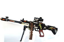 AK47 Toy Gun Light Up Toy Machine Gun Army Rifle Moving Belt Action Tommy gun