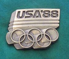 Vintage  USA OLYMPIC GAMES  Calgary/Seoul 1988 Belt Buckle