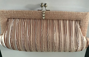 """New Evening Bag Clutch Champagne 9""""x 5"""""""