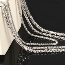 5m lot Silver Wheat braid Link Chain Stainless Steel Jewelry Finding Chain 5mm