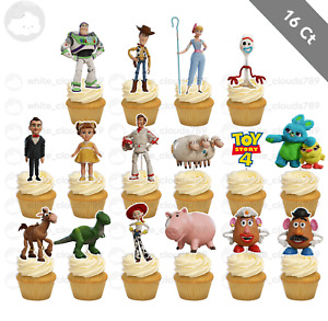 16 Toy Story Woody Forky Cupcake Cake Topper Food Pick Favor Party Birthday Kid
