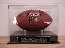 Odell Beckham Jr. Football Display Case With A New York Giants Nameplate
