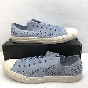 Converse Textured Suede Sneakers CTAS Ox Glacier Gray Low Top Sz 11M/13W New