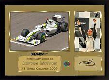 Jenson Button signed autograph photo print Memorabilia BRAWN GP Formula 1