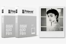 2x Pellicola Istantanea Bianco e Nero Polaroid Originals B&W 600 (2pz.) (SG)