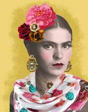 FRIDA, Custom Design Giclee Reproduction Rolled CANVAS ART PRINT 24x30 in.