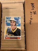 1979 OPC O-Pee-Chee Baseball Bear Complete Set Mid Grade (no Ryan)