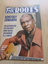 HONEYBOY EDWARDS 'FOLKROOTS' MUSIC MAGAZINE DECEMBER 1989