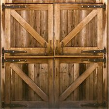 RUSTIC COUNTRY BARN DOORS COASTERS SET OF 4 RUBBER BACKED