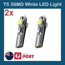 2 x T5 White 3 SMD SUPER BRIGHT LED Side Car Light Wedge Bulb DC 12V