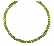 Green Vesuvianite Necklace Natural Faceted 14k Gold Fil or Sterlng 20 Inch Solid