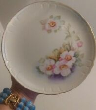 """Lefton China Hand Painted Collectible Plate 'Magnolia' 7.5"""" EUC"""