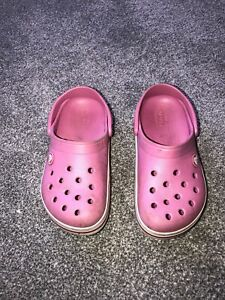 Pink And White Girls Crocs. Size 12.