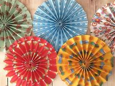 paper pinwheel fan decoration hanging kit Wedding Mexican Fiesta Day Of The Dead